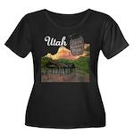 Utah Women's Plus Size Scoop Neck Dark T-Shirt