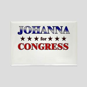 JOHANNA for congress Rectangle Magnet