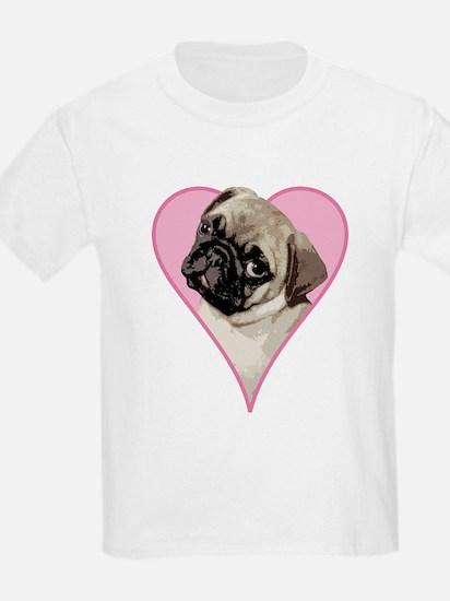 Heart Pug - T-Shirt
