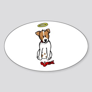 Jack Russell - Angel - Oval Sticker