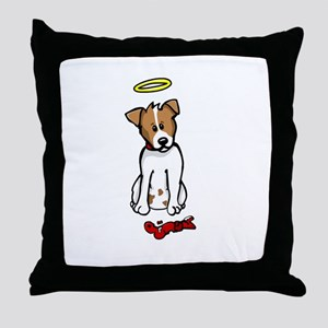 Jack Russell - Angel - Throw Pillow