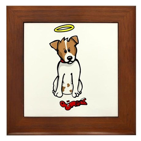 Jack Russell - Angel - Framed Tile