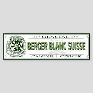 BERGER BLANC SUISSE Bumper Sticker
