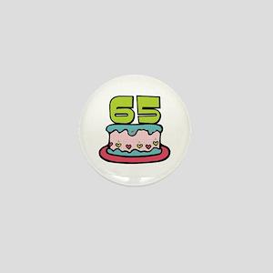 65th Birthday Cake Mini Button