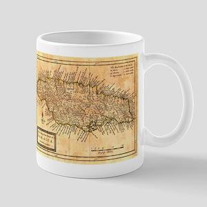 Vintage Map of Jamaica (1771) Mugs