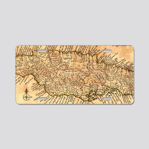 Vintage Map of Jamaica (177 Aluminum License Plate