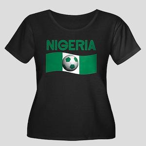 TEAM NIGERIA Women's Plus Size Scoop Neck Dark T-S