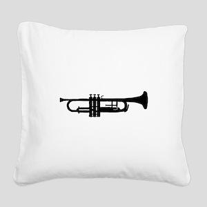 Trumpet Square Canvas Pillow