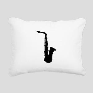 Saxophone Rectangular Canvas Pillow