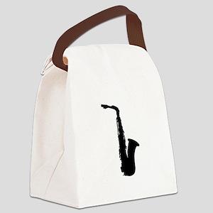 Saxophone Canvas Lunch Bag