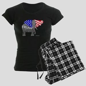 Trump Elephant Women's Dark Pajamas