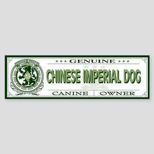 CHINESE IMPERIAL DOG Bumper Sticker