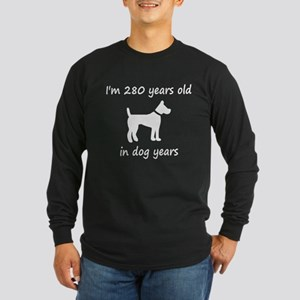 40 Dog Years White Dog 1 Long Sleeve T-Shirt