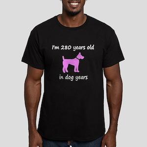 40 Dog Years Pink Dog 1 T-Shirt