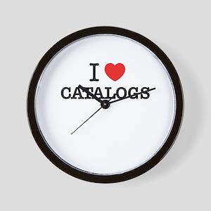 I Love CATALOGS Wall Clock