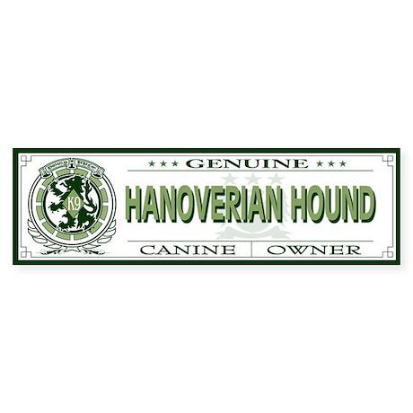 HANOVERIAN HOUND Bumper Sticker