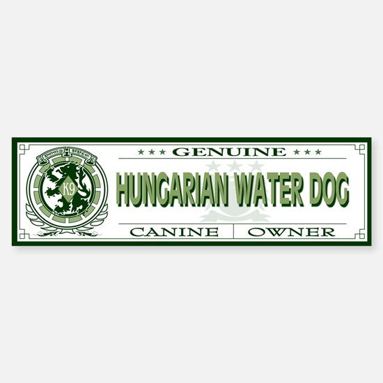 HUNGARIAN WATER DOG Bumper Bumper Bumper Sticker
