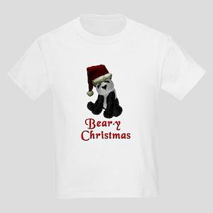Bear-y Christmas Panda Kids Light T-Shirt