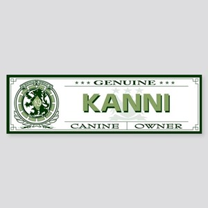 KANNI Bumper Sticker