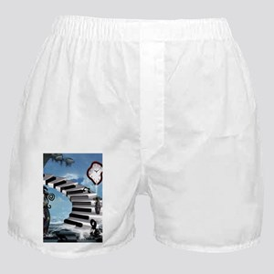 Music, piano on the beach with clef Boxer Shorts