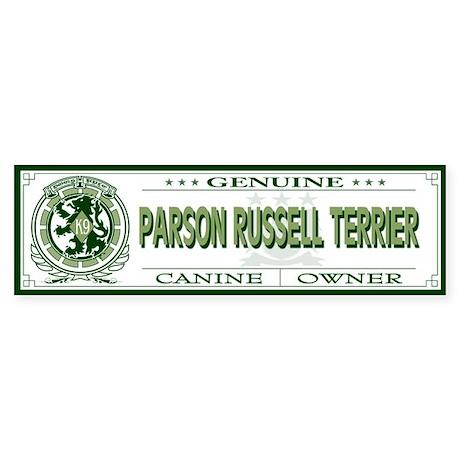 PARSON RUSSELL TERRIER Bumper Sticker