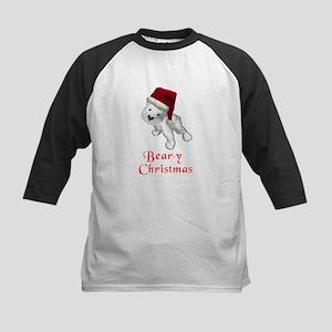 Polar bear-y Christmas Kids Baseball Jersey