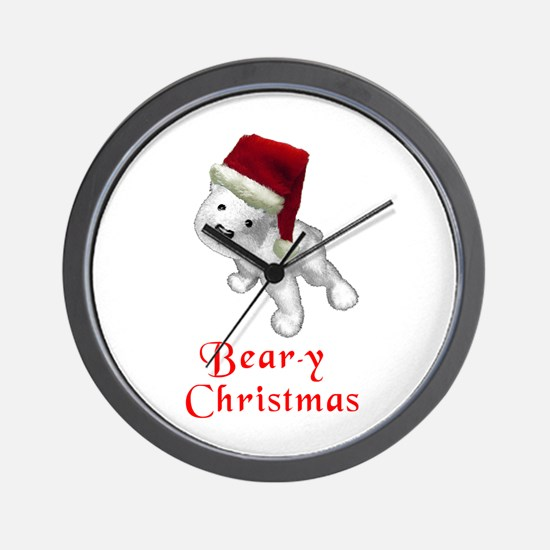 Polar bear-y Christmas Wall Clock
