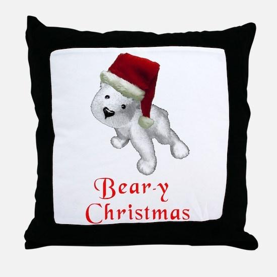 Polar bear-y Christmas Throw Pillow