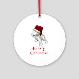 Polar bear-y Christmas Ornament (Round)