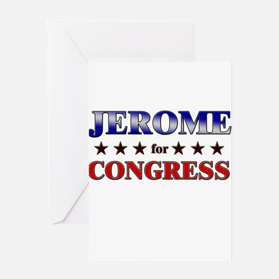JEROME for congress Greeting Card