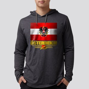 Austrian Flag & COA Long Sleeve T-Shirt