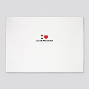 I Love INTERPRETABLY 5'x7'Area Rug