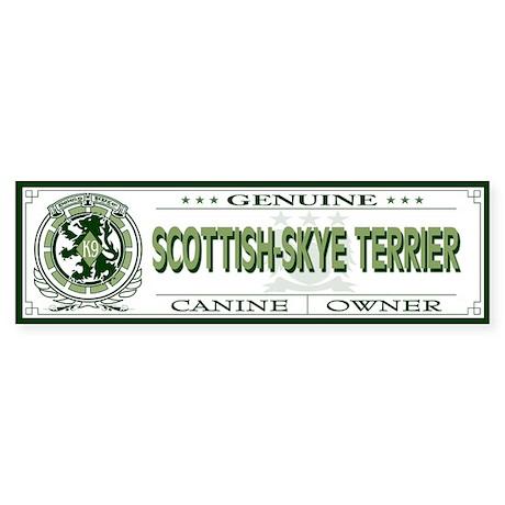 SCOTTISH-SKYE TERRIER Bumper Sticker