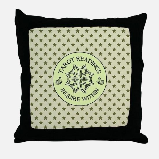 TAROT READER Throw Pillow
