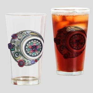 Spiral moon Drinking Glass