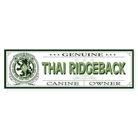 THAI RIDGEBACK Bumper Sticker