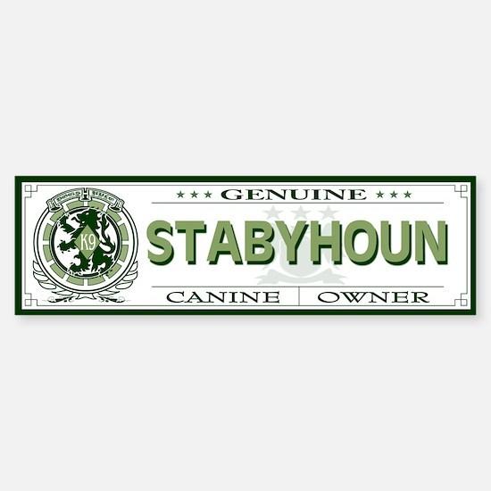 STABYHOUN Bumper Bumper Bumper Sticker