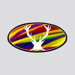 Buck gay rainbow art Patch