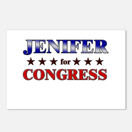 JENIFER for congress Postcards (Package of 8)