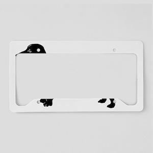 dachshund, I love my weiner License Plate Holder