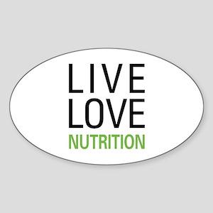 Live Love Nutrition Oval Sticker