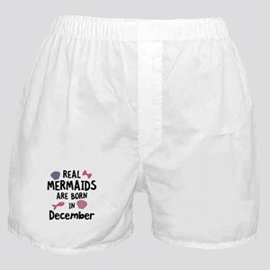Mermaids are born in December Cgeh6 Boxer Shorts