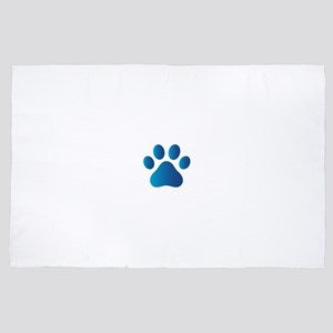 Blue Paw Print 4' x 6' Rug