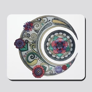 Spiral moon Mousepad