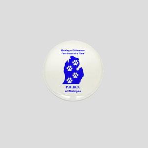 P.A.W.S. of Michigan Mini Button