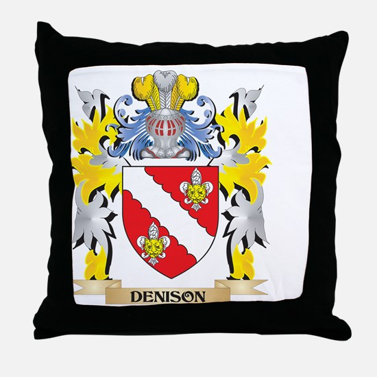 Denison Coat of Arms - Family Crest Throw Pillow