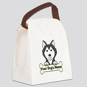 Personalized Husky Canvas Lunch Bag