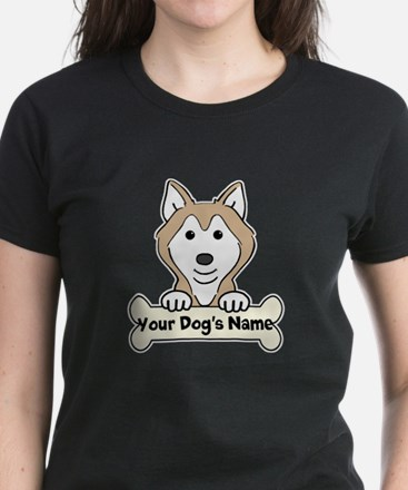 Personalized Husky Women's Dark T-Shirt
