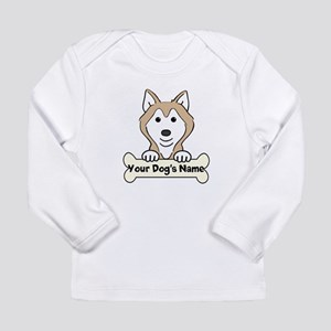 Personalized Husky Long Sleeve Infant T-Shirt