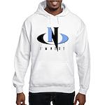 Light Blue & Black Hooded Sweatshirt